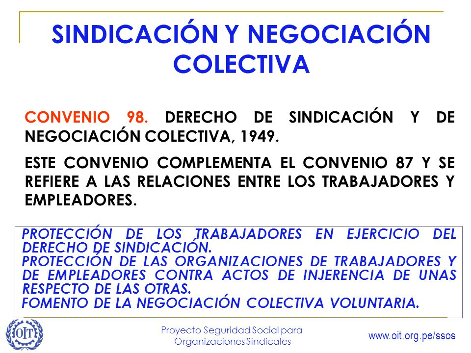 SINDICACIÓN Y NEGOCIACIÓN COLECTIVA