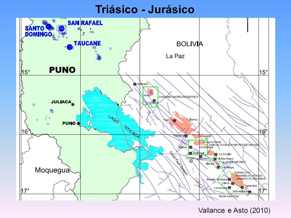 Triásico - Jurásico Vallance e Asto (2010)