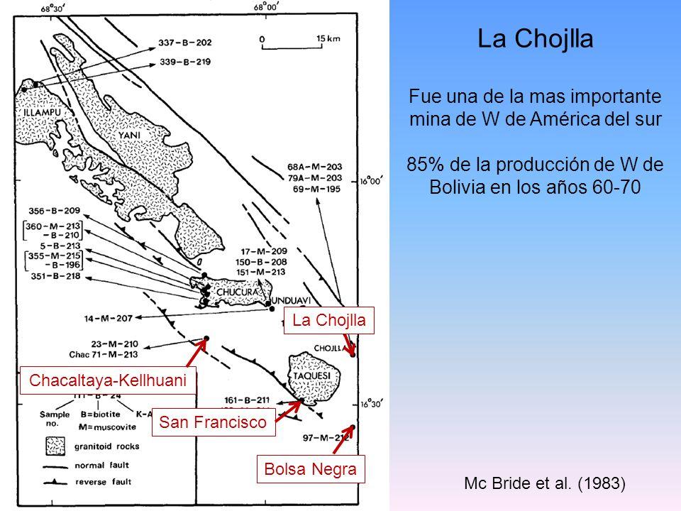La Chojlla Fue una de la mas importante mina de W de América del sur