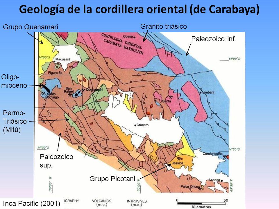 Geología de la cordillera oriental (de Carabaya)