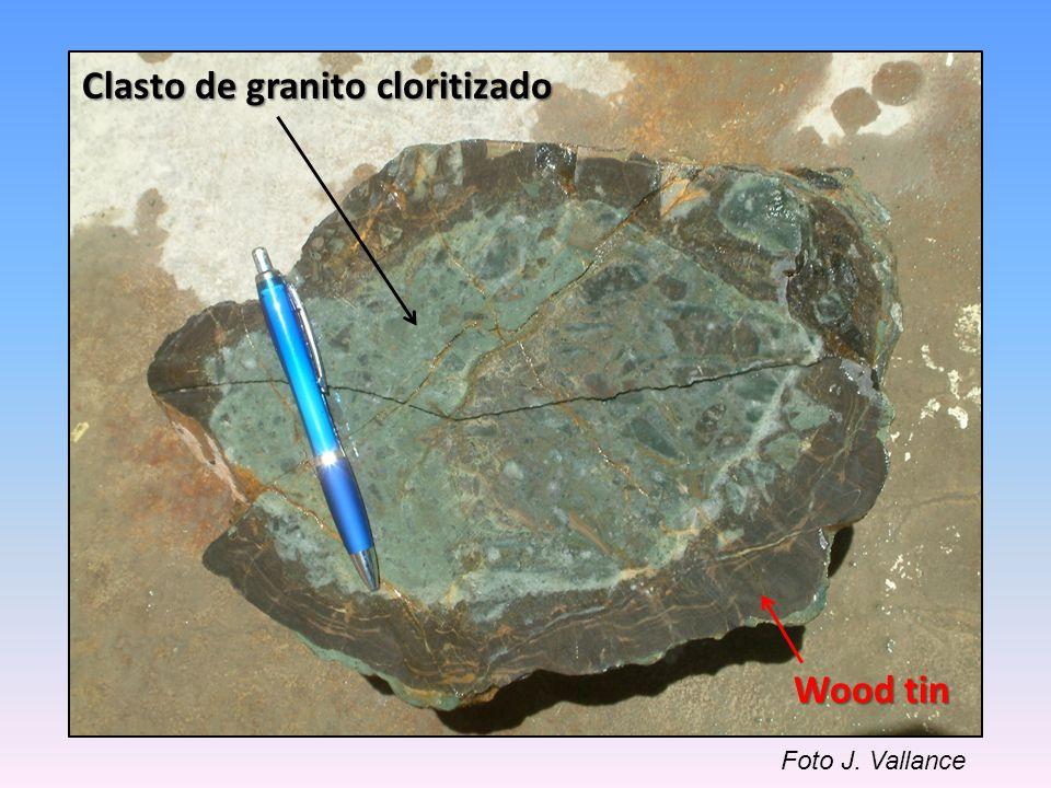 Clasto de granito cloritizado