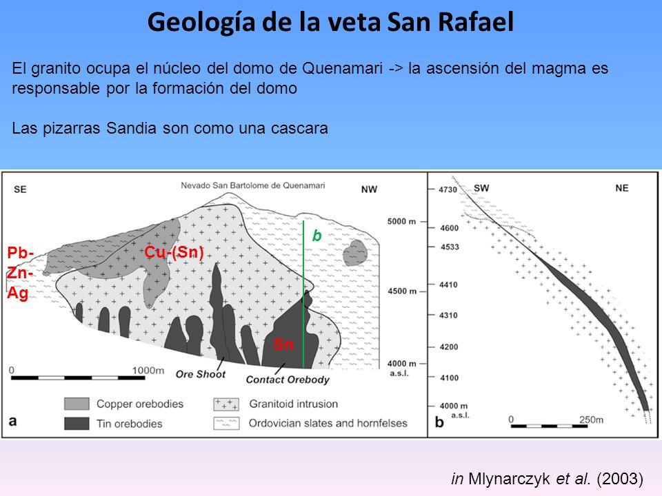 Geología de la veta San Rafael
