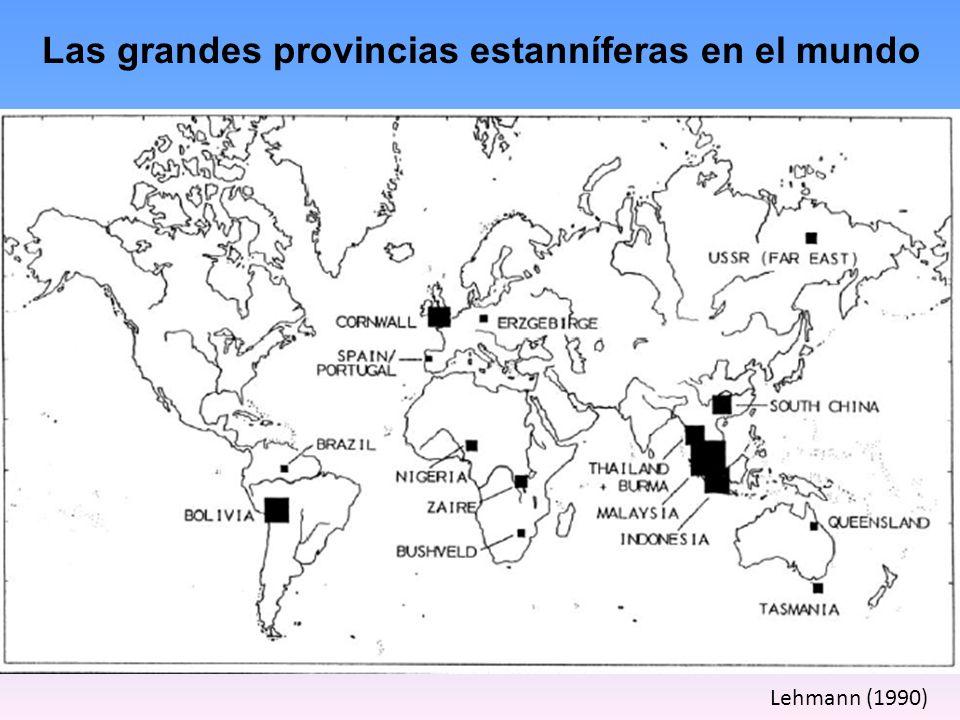 Las grandes provincias estanníferas en el mundo