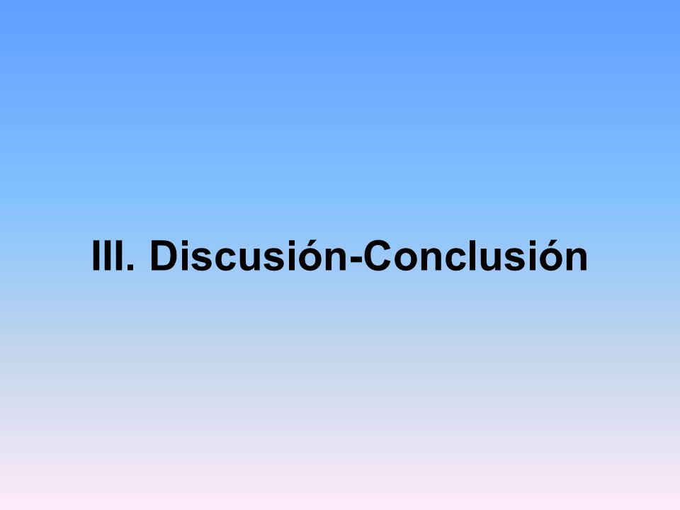 III. Discusión-Conclusión