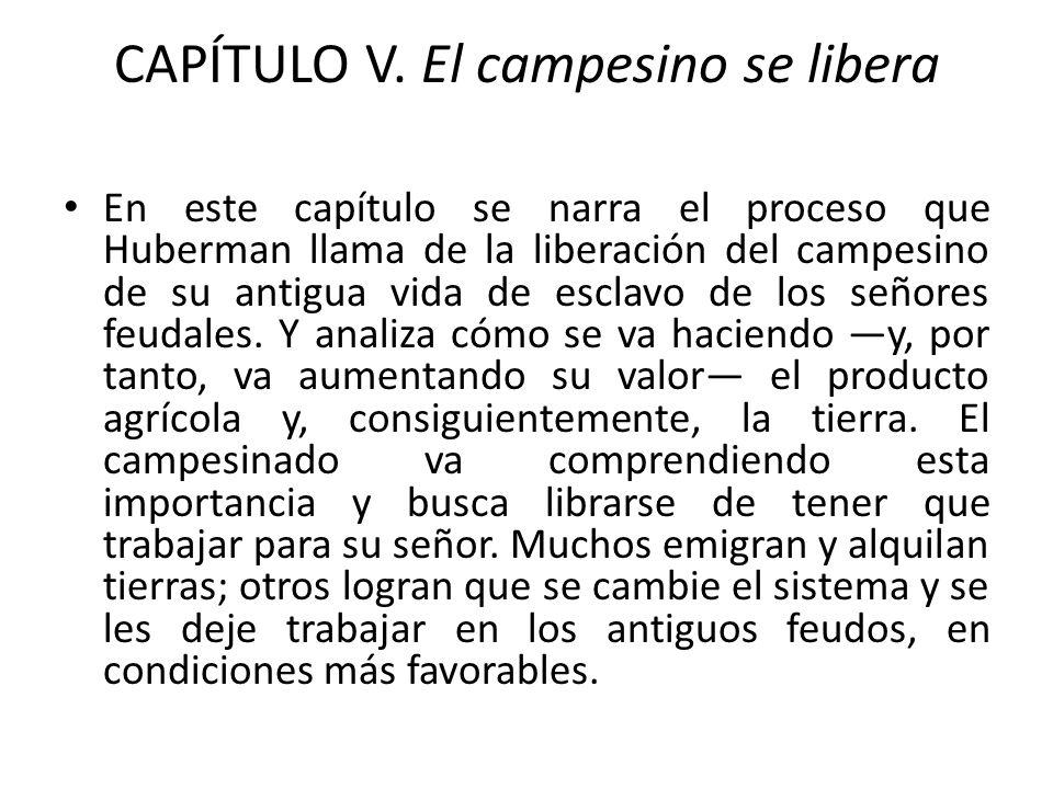 CAPÍTULO V. El campesino se libera