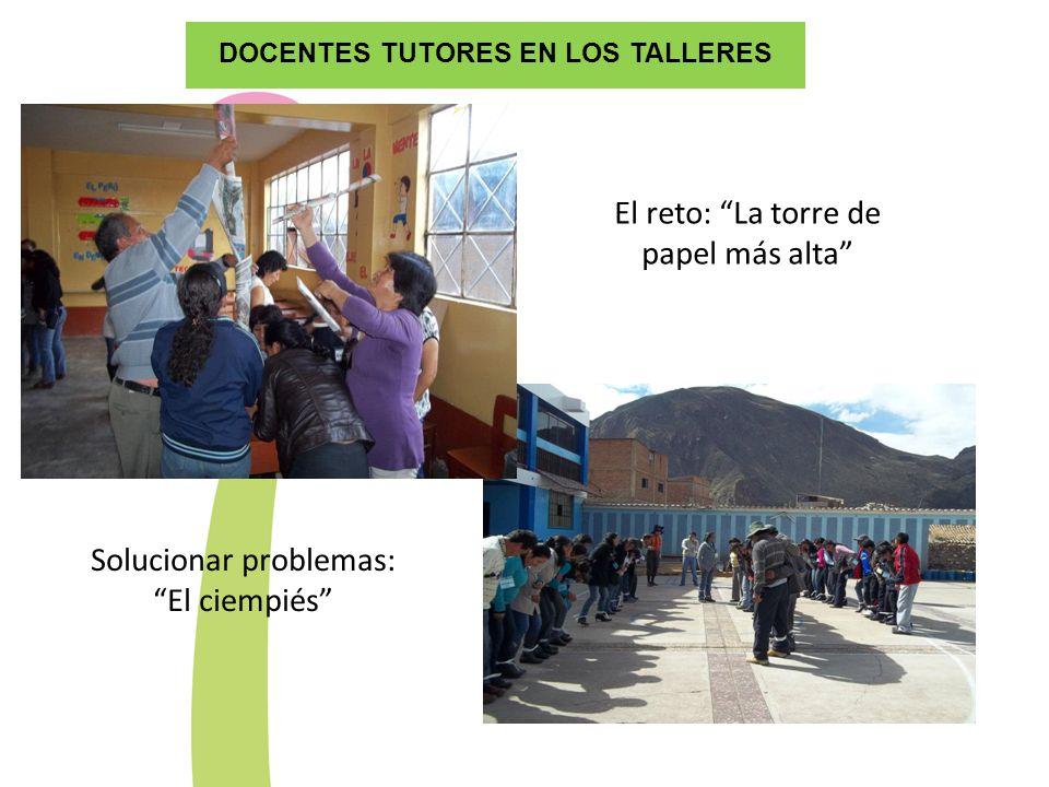 DOCENTES TUTORES EN LOS TALLERES