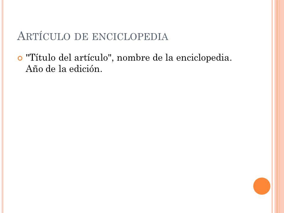 Artículo de enciclopedia