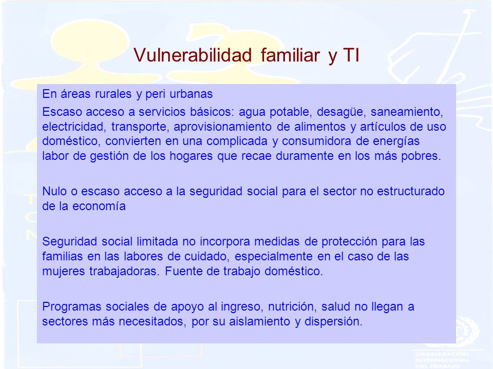 Vulnerabilidad familiar y TI