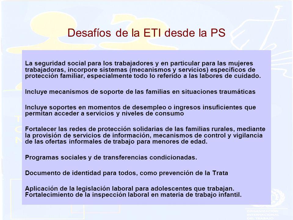 Desafíos de la ETI desde la PS