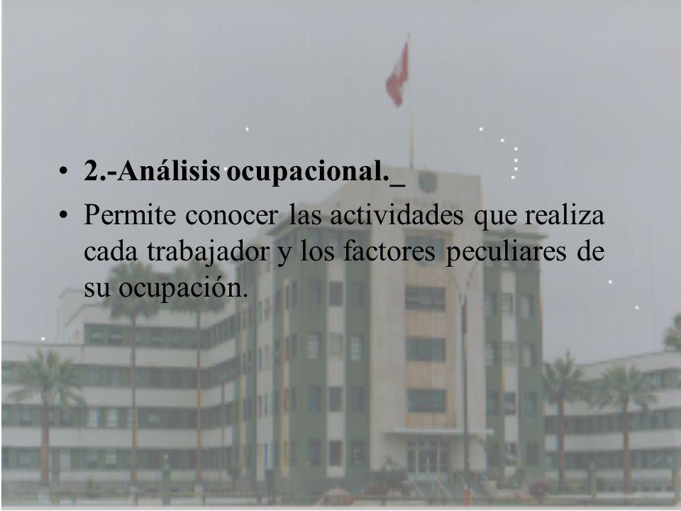 2.-Análisis ocupacional._