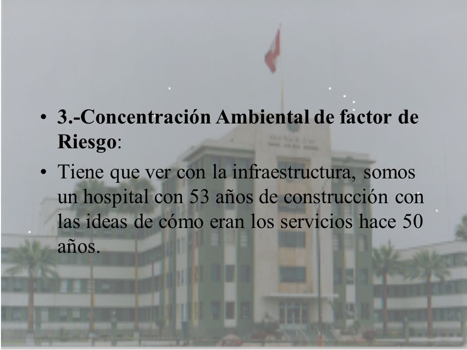 3.-Concentración Ambiental de factor de Riesgo: