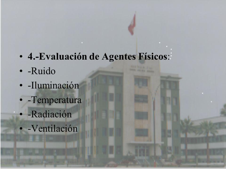 4.-Evaluación de Agentes Físicos: