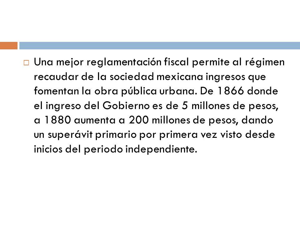 Una mejor reglamentación fiscal permite al régimen recaudar de la sociedad mexicana ingresos que fomentan la obra pública urbana.