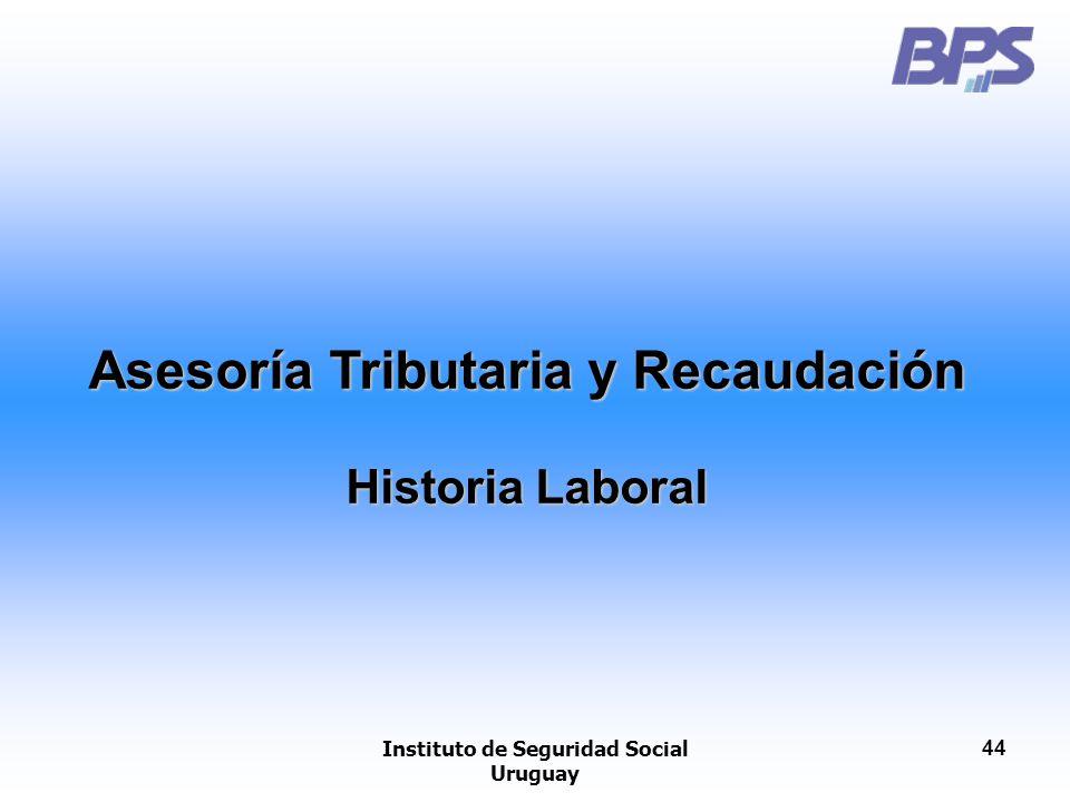 Asesoría Tributaria y Recaudación Instituto de Seguridad Social