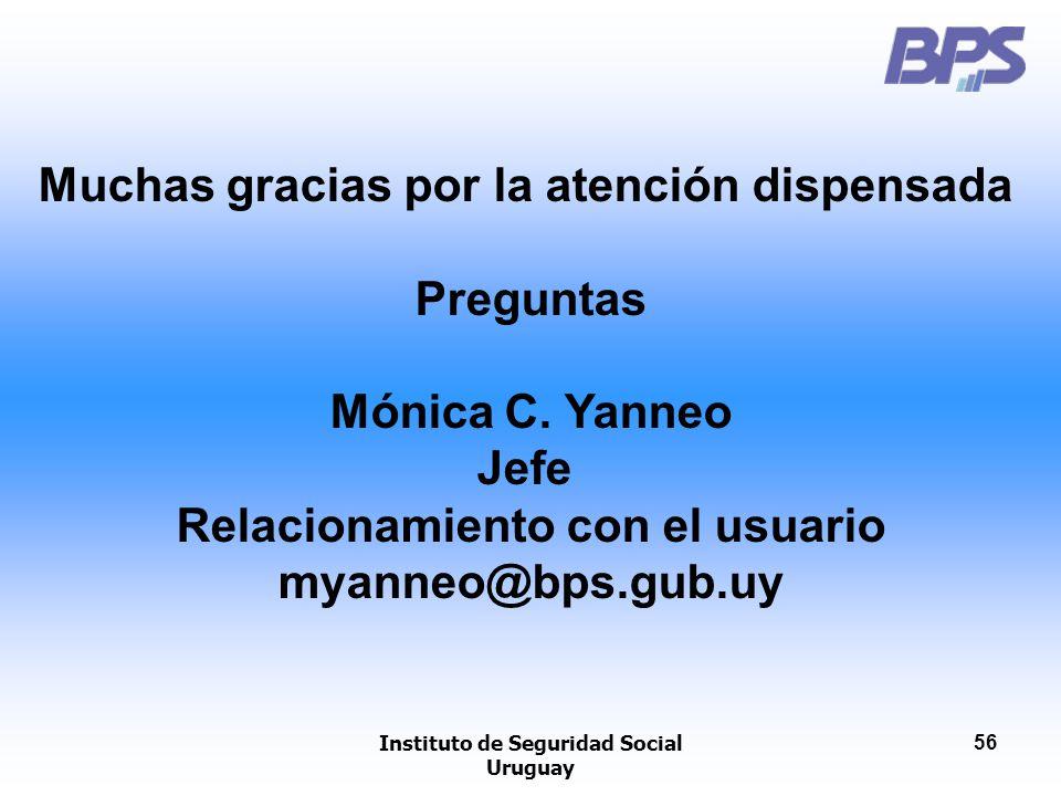 Muchas gracias por la atención dispensada Preguntas Mónica C. Yanneo