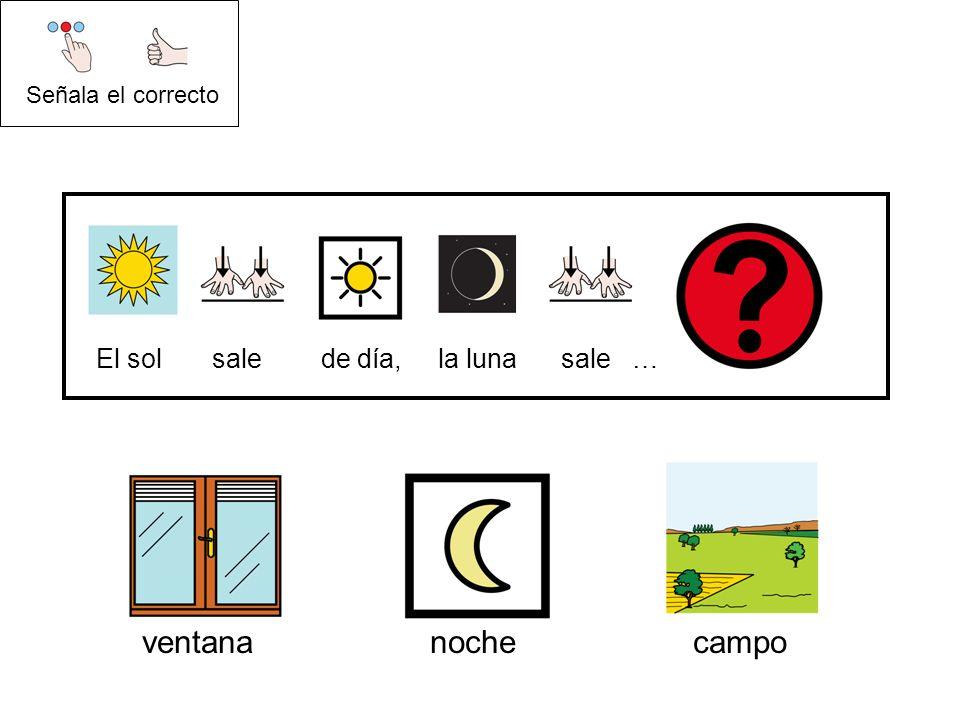 ventana noche campo El sol sale de día, la luna sale …
