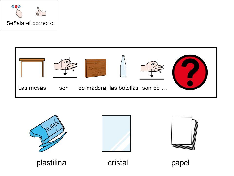 plastilina cristal papel