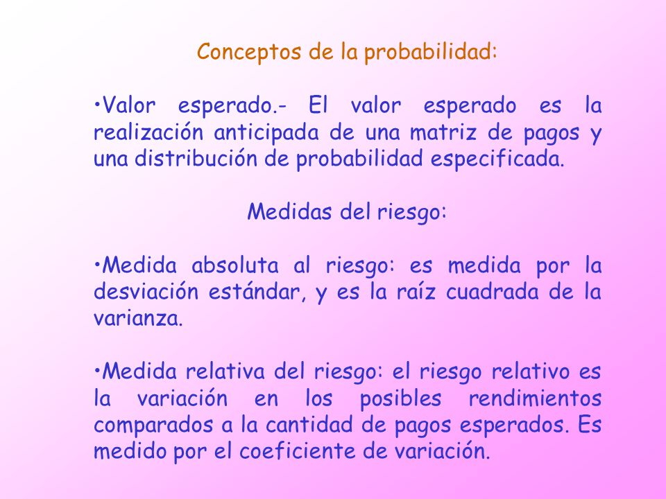 Conceptos de la probabilidad: