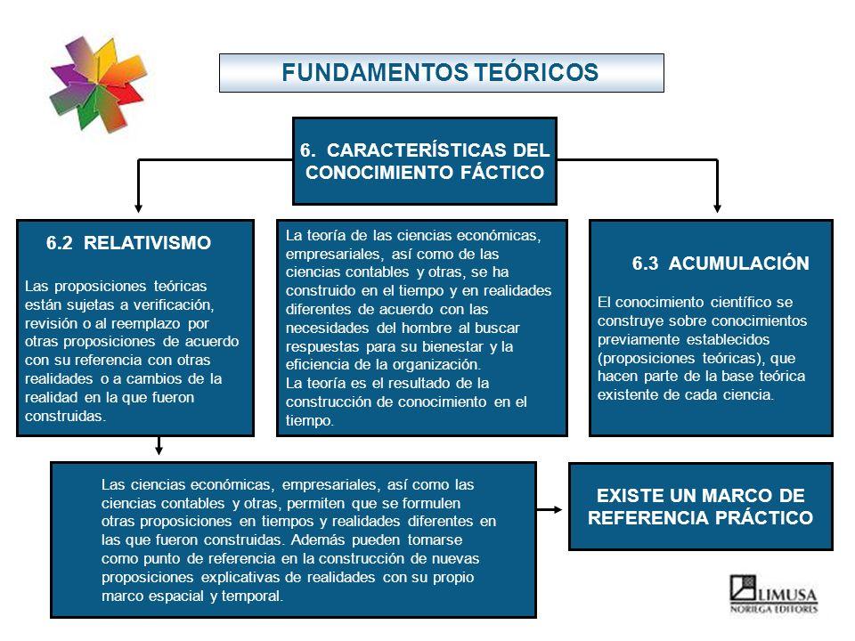 FUNDAMENTOS TEÓRICOS 6. CARACTERÍSTICAS DEL CONOCIMIENTO FÁCTICO