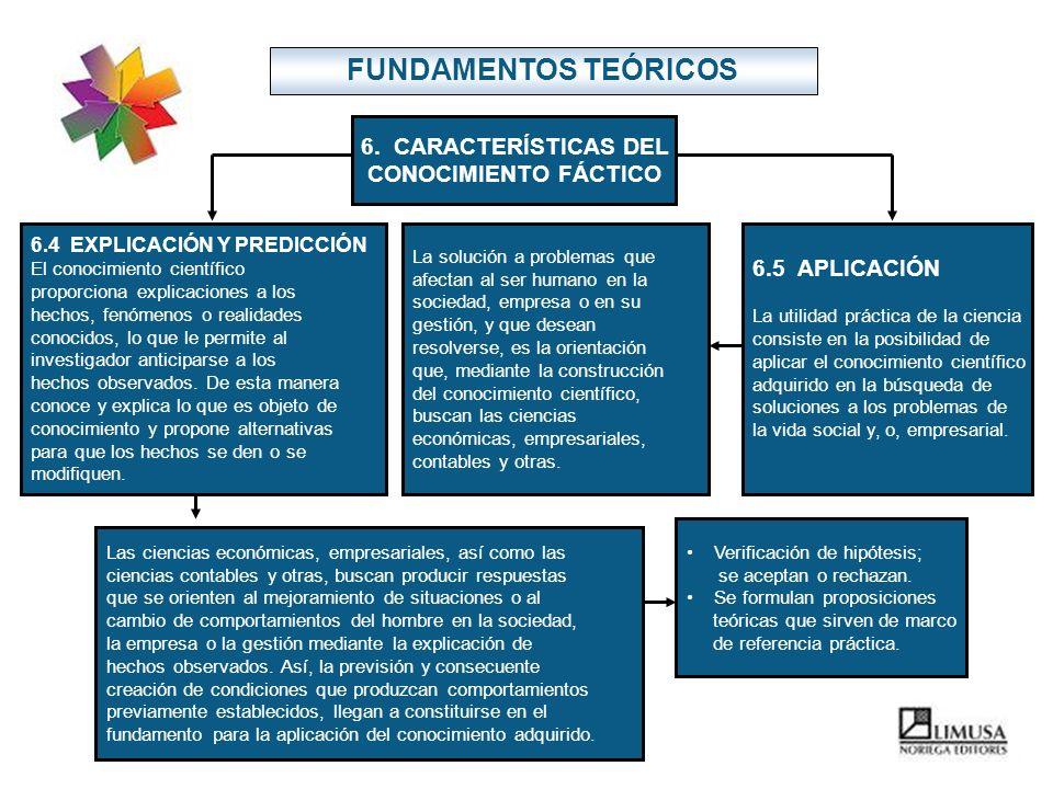 6. CARACTERÍSTICAS DEL CONOCIMIENTO FÁCTICO
