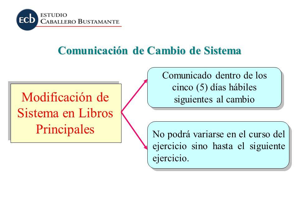 Comunicación de Cambio de Sistema