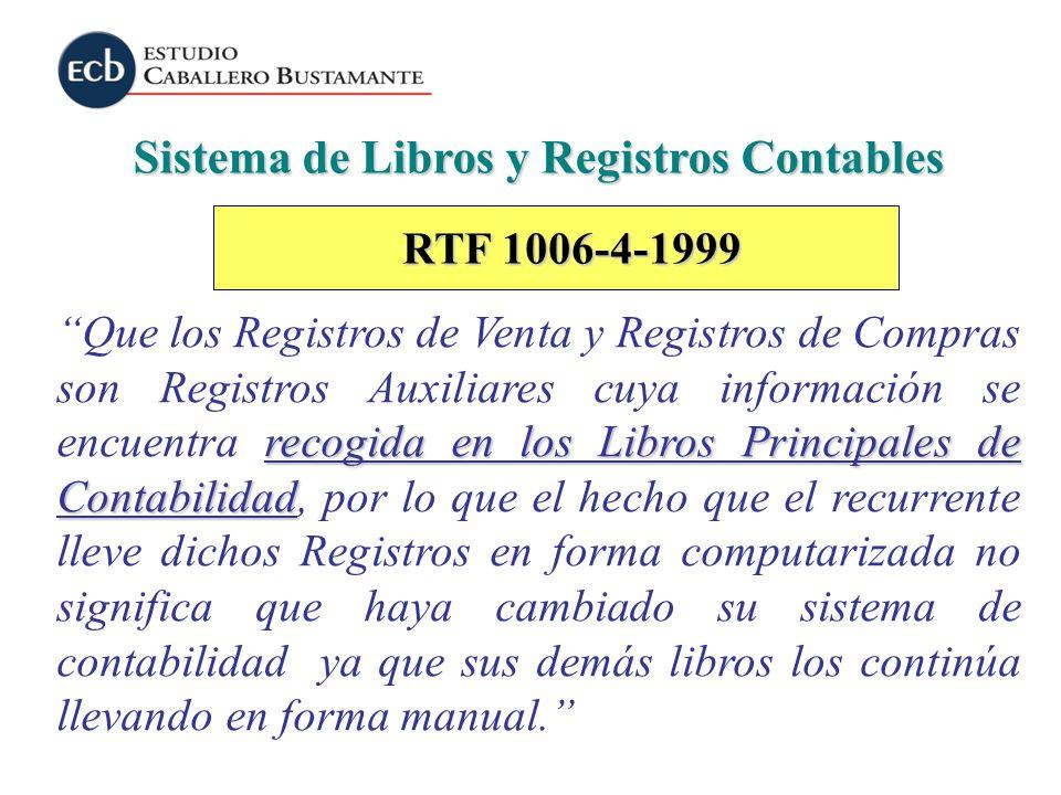 Sistema de Libros y Registros Contables