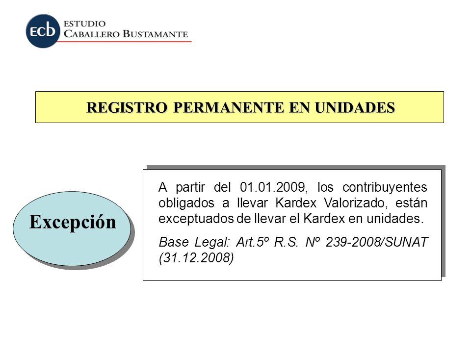 REGISTRO PERMANENTE EN UNIDADES