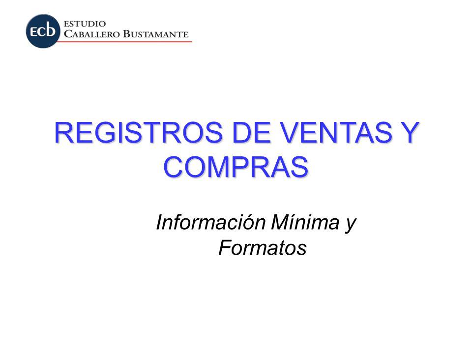 REGISTROS DE VENTAS Y COMPRAS