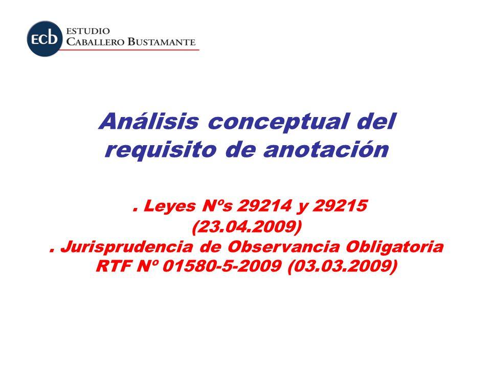 Análisis conceptual del requisito de anotación