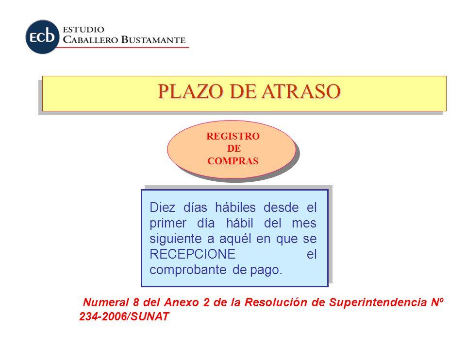 PLAZO DE ATRASO REGISTRO. DE. COMPRAS.