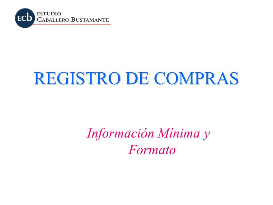 Información Mínima y Formato