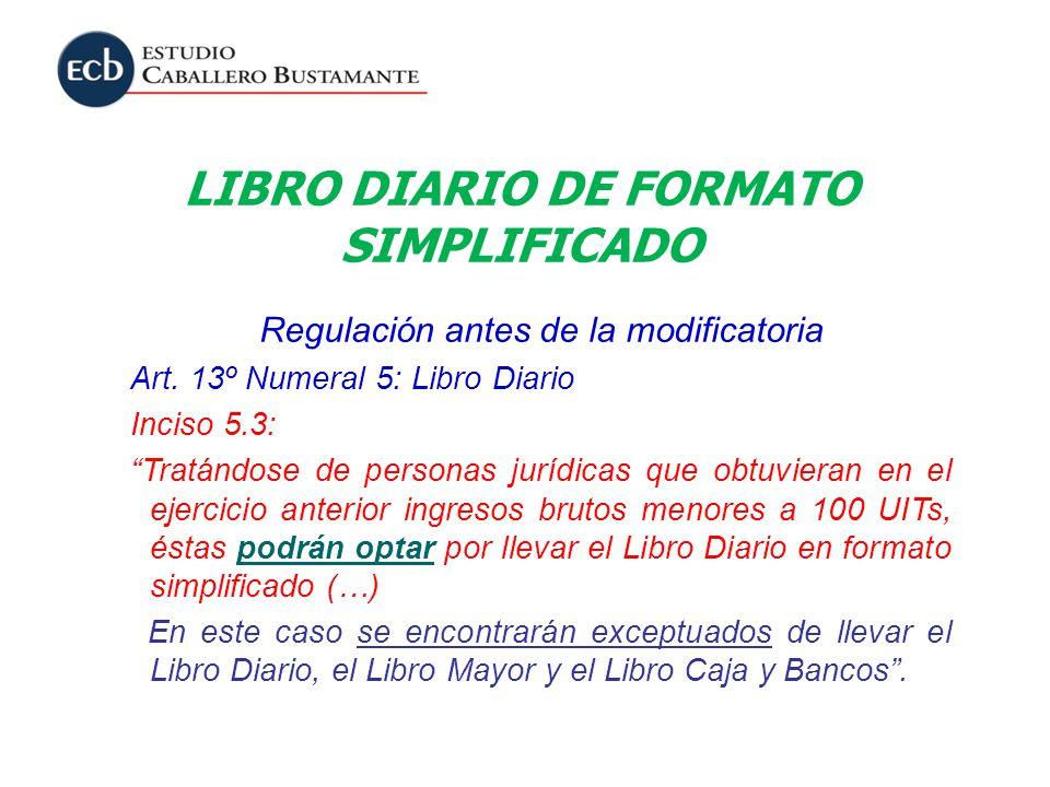 LIBRO DIARIO DE FORMATO SIMPLIFICADO