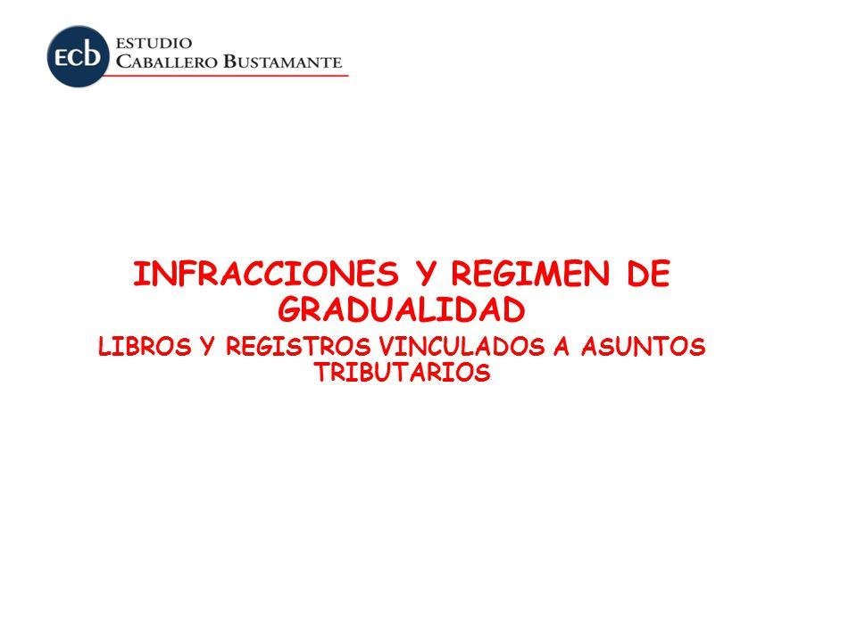 INFRACCIONES Y REGIMEN DE GRADUALIDAD