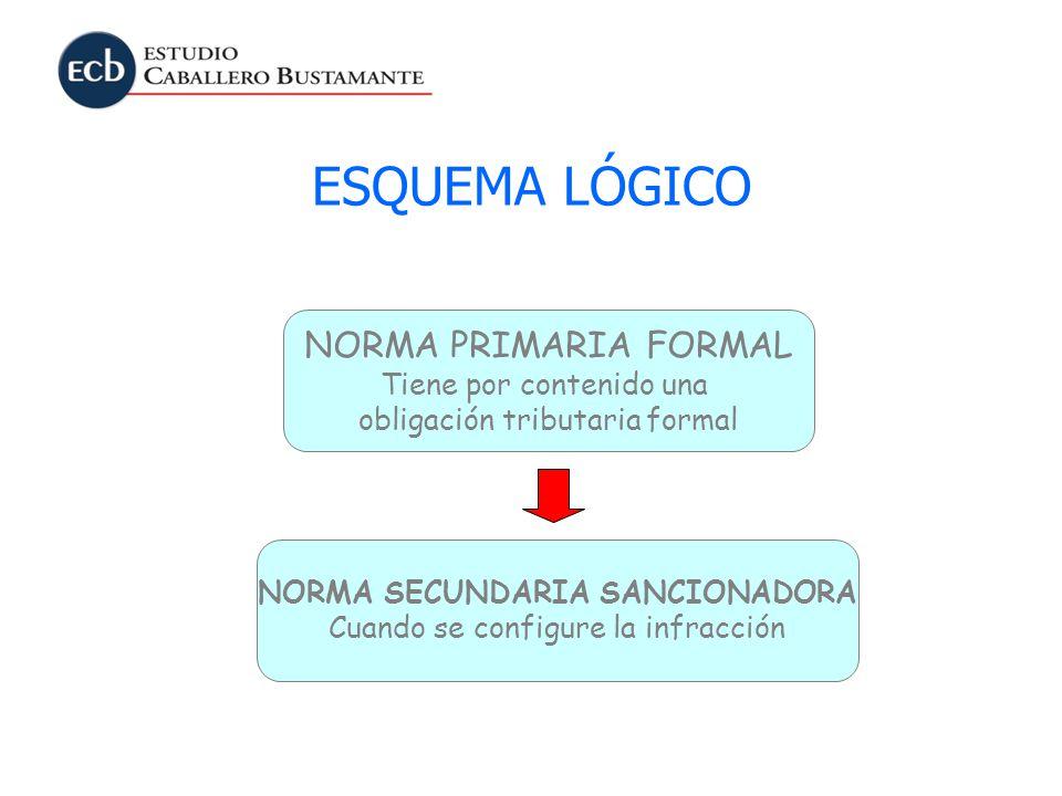 NORMA SECUNDARIA SANCIONADORA