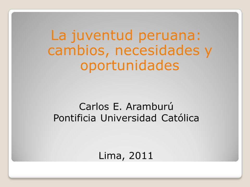 La juventud peruana: cambios, necesidades y oportunidades