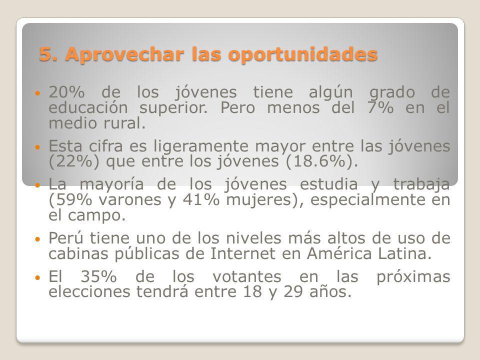 5. Aprovechar las oportunidades
