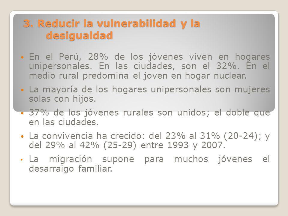 3. Reducir la vulnerabilidad y la desigualdad