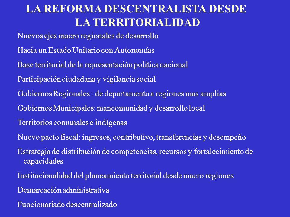 LA REFORMA DESCENTRALISTA DESDE