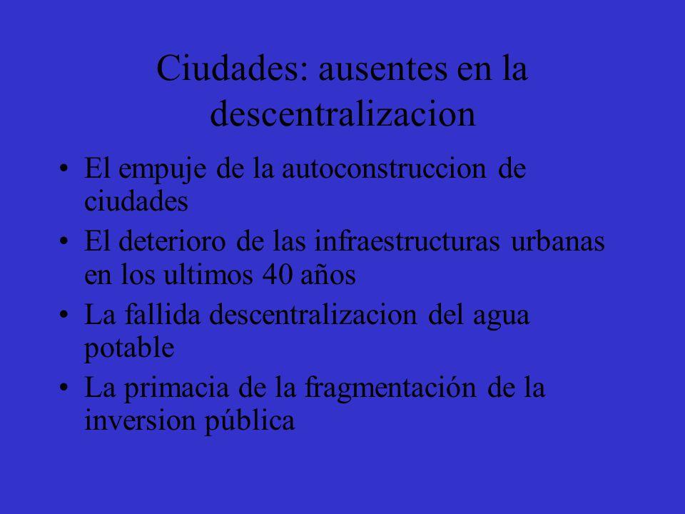 Ciudades: ausentes en la descentralizacion