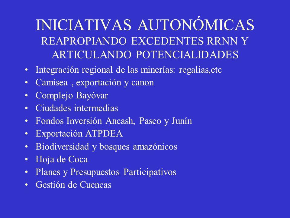 INICIATIVAS AUTONÓMICAS REAPROPIANDO EXCEDENTES RRNN Y ARTICULANDO POTENCIALIDADES