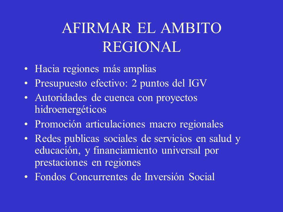 AFIRMAR EL AMBITO REGIONAL