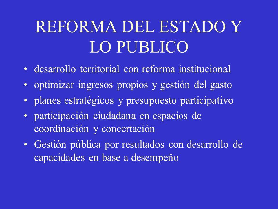 REFORMA DEL ESTADO Y LO PUBLICO
