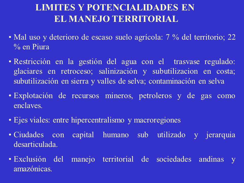 LIMITES Y POTENCIALIDADES EN