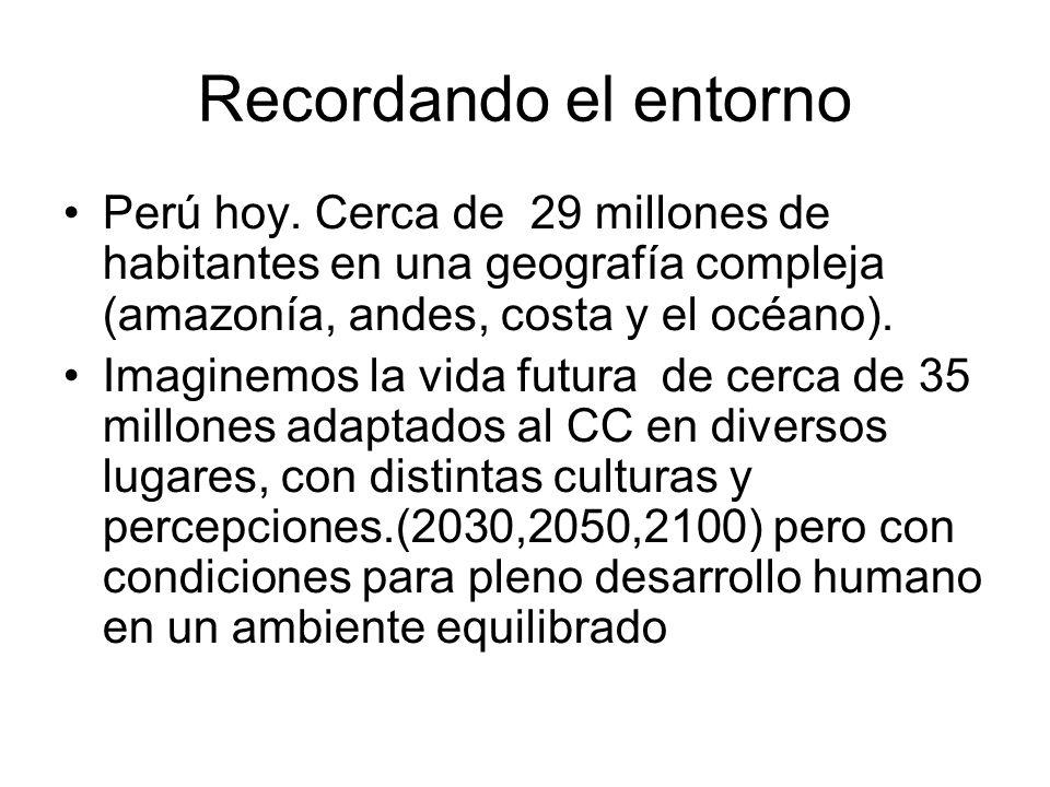 Recordando el entorno Perú hoy. Cerca de 29 millones de habitantes en una geografía compleja (amazonía, andes, costa y el océano).