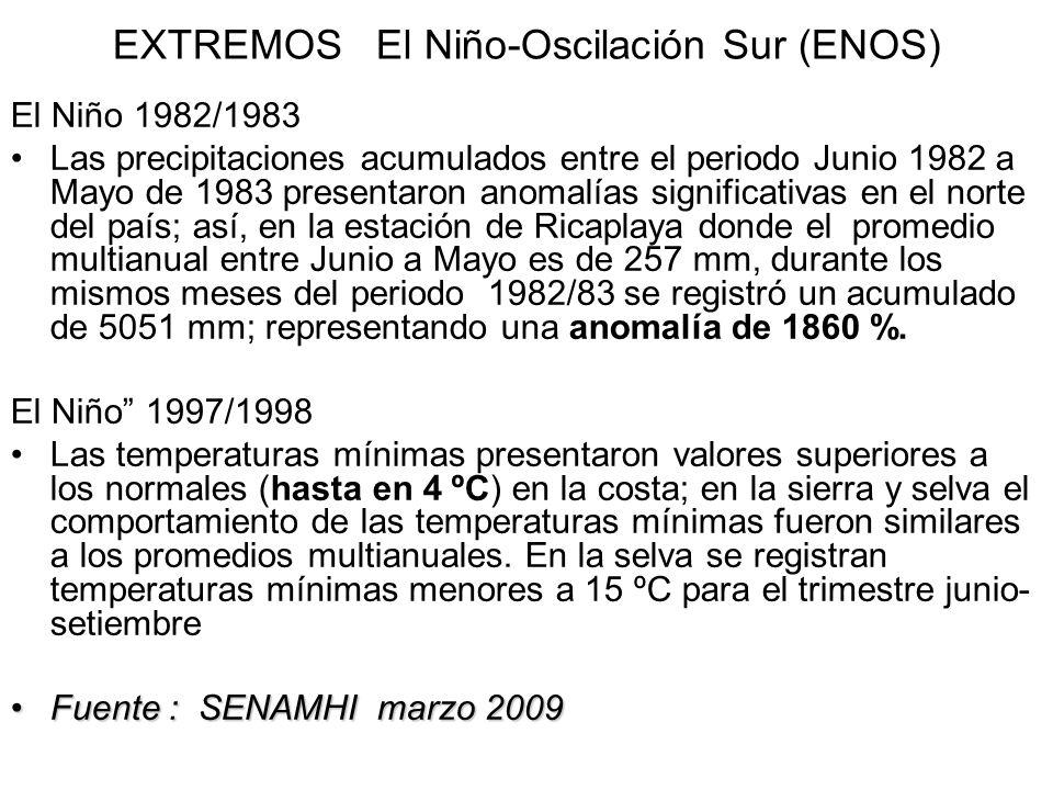 EXTREMOS El Niño-Oscilación Sur (ENOS)