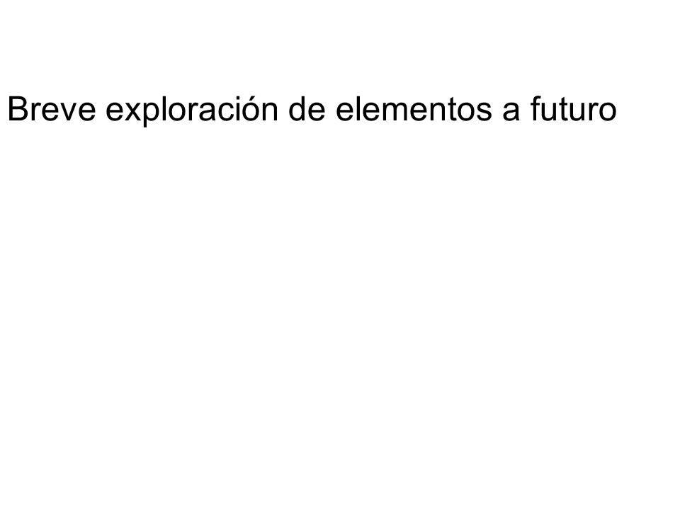 Breve exploración de elementos a futuro