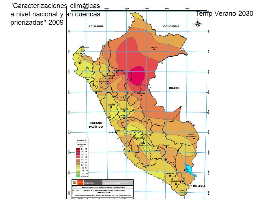 Caracterizaciones climáticas a nivel nacional y en cuencas priorizadas 2009