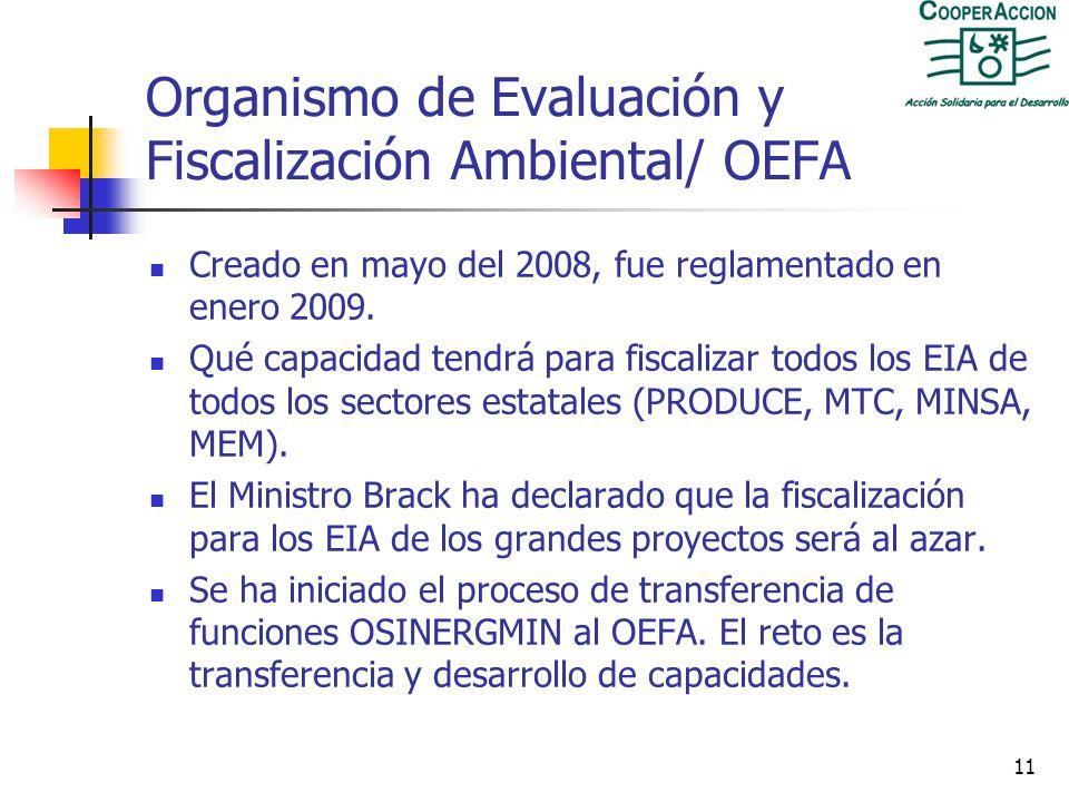 Organismo de Evaluación y Fiscalización Ambiental/ OEFA