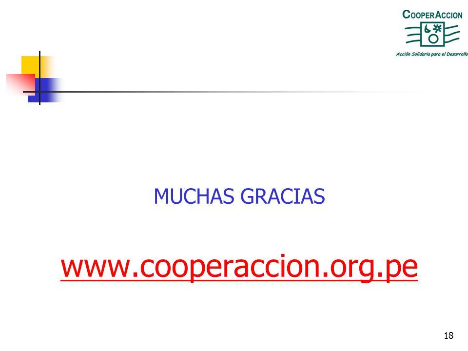 MUCHAS GRACIAS www.cooperaccion.org.pe