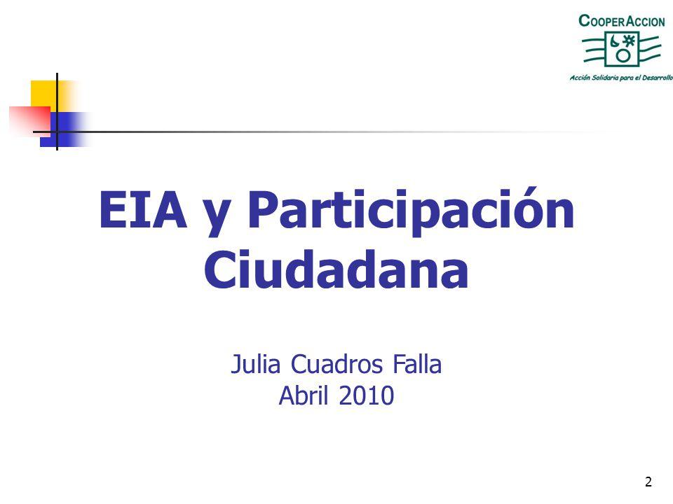 EIA y Participación Ciudadana